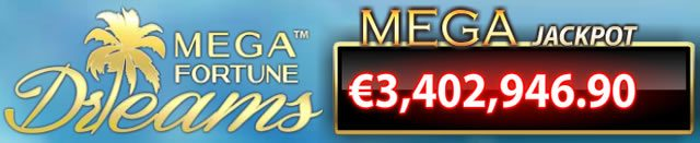 Mega Jackpot bei Mega Fortune Dreams CasinoEuro