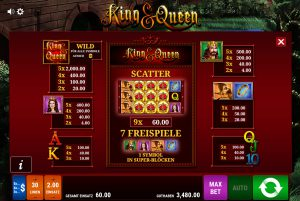 Tabelle King and Queen