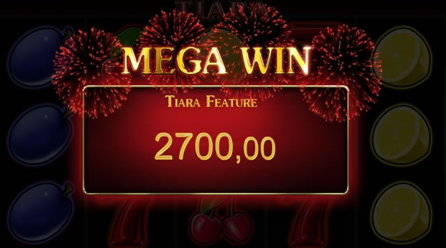tiara feature mega win
